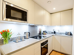 London Kensington Apartment Kitchen