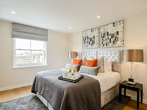 London Kensington Apartment Bedroom